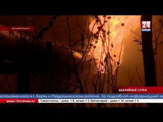 Вот такое зарево освещало несколько посёлков Южного берега Крыма прошлой ночью.