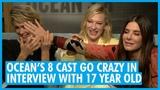 What's The Question Sandra Bullock, Sarah Paulson &amp Cate Blanchett - Ocean's 8 Interview