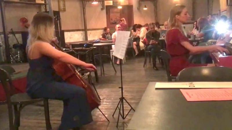 Agatha Gauss (виолончель), Елизавета Медведева (фортепиано) - кино-вечер в клубе Duma, 27.05.18