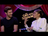 Zac Efron  Zendaya- How to do a perfect on-screen kiss, their fears, GREATEST SHOWMAN