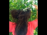 Сушу волосы после купания