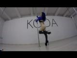 Exotic pole dance. Olga Koda.