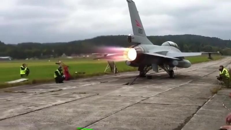 F-16 engine testing