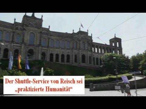 Demo vor Bayerischem Landtag gegen SPD-Ehrung für Schlepper-Unterstützer