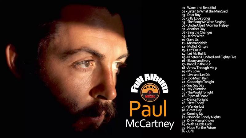 Paul McCartney greatest Hit - Paul McCartney Best Songs