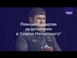 Реакция Кадырова на включение в список Магнитского