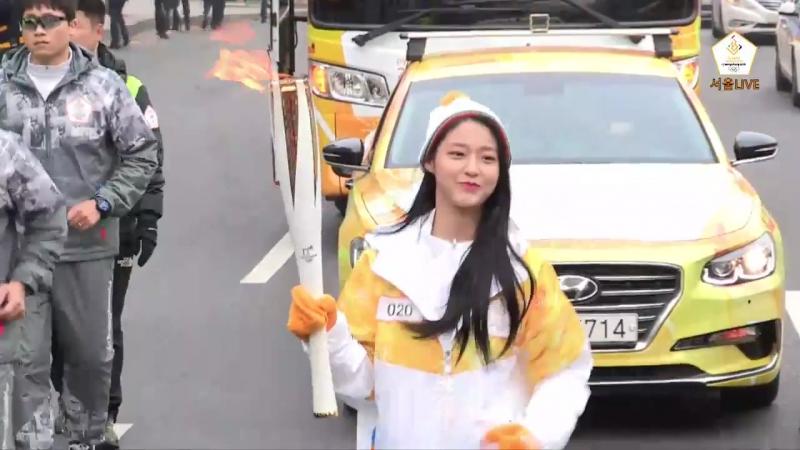 [180116]2018평창동계올림픽대회성화봉송생중계-77일차.AOA지민,설현,찬미.LiveStream