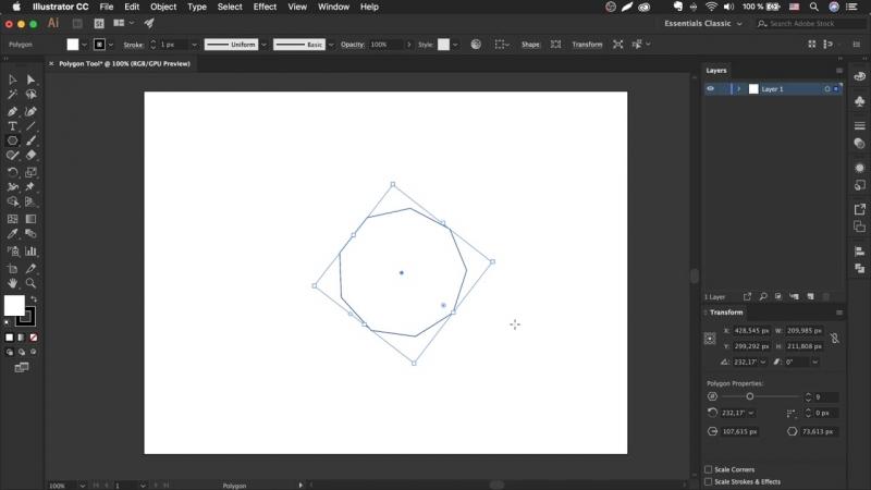 Как сделать многоугольник _ треугольник в иллюстраторе - Polygon Tool _ Урок Adobe Illustrator