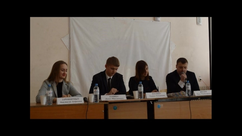 Дебаты кандидатов в депутаты Молодежного Парламента Свердловской области по Ирбитскому одномандатному избирательному округу №13