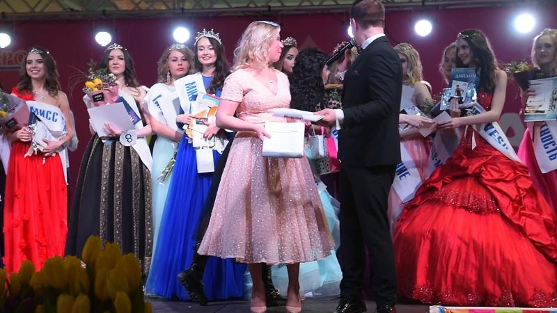 Вручение сертификатов победительнице Мисс Самара 2018 Александре Колижук от Школы Маленькие женщины