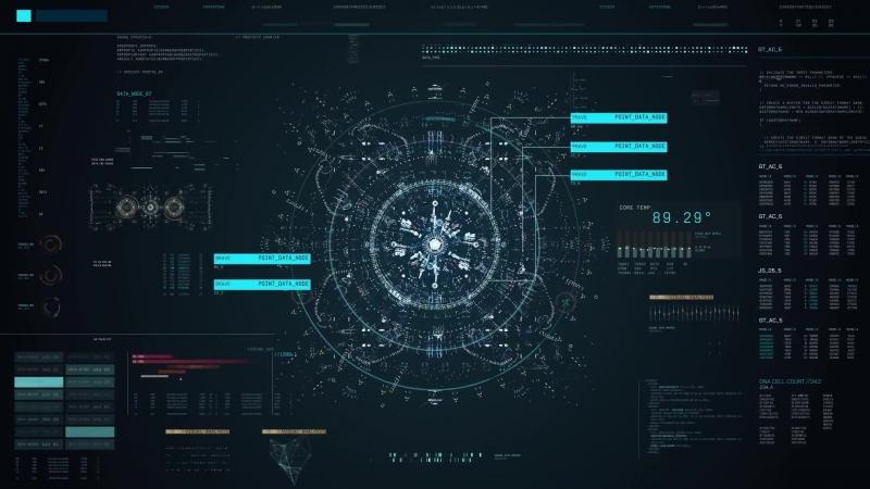 来自未来的交互界面 FUI ECHO - Screen Graphics / Fantasy User Interface(Part Of The Wallpaper)-1080P 25FPS