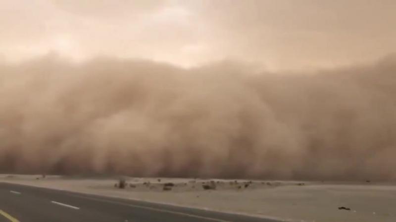 Major dust storm in Saudi Arabia yesterday Feb 23