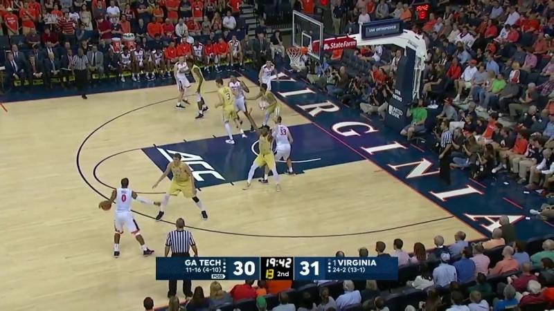 Georgia Tech at Virginia _NCAA Mens Basketball February 21, 2018