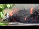 Извержение Килауэа: лава наступает на город