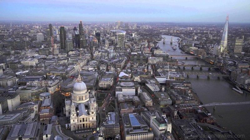 London Aerial Footage - filmed by Jason Hawkes! Shot in 4K