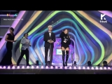 171202 BTS SUGA and SURAN Won Hot Trend Award @ Melon Music Awards 2017