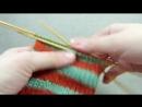 Смена цвета нити по кругу без ступенек Цветное вязание по кругу How to knit jogless stripes YouTube 360p