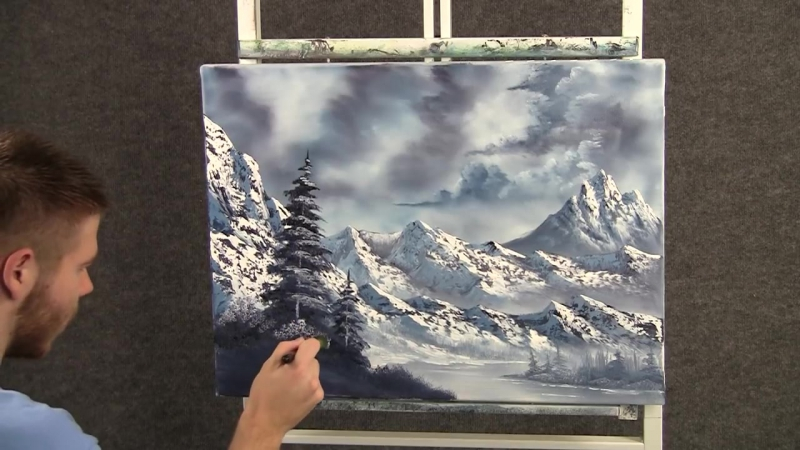 3 Paint with Kevin Hill - Large Snowy Mountains wet on wet HD