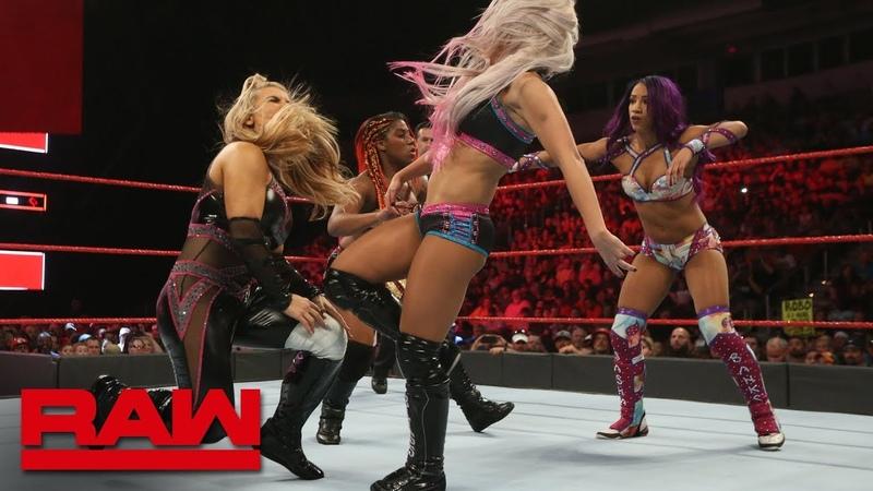 SB_Group| Sasha Banks vs. Natalya vs. Ember Moon vs. Alexa Bliss - Fatal 4-Way Match: Raw, June 11, 2018