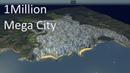 Cities Skylines - 1 Million Population Mega City cinematic video 4K