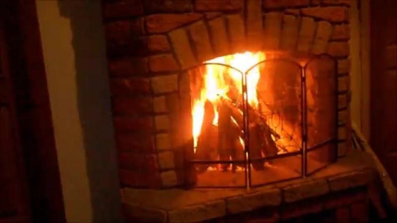 Горящий Камин _ Живой Огонь _ Burning Fireplace _ Live Fire