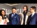 CW Upfronts 2018 - Интервью Дженсена, Джареда и Миши на красной дорожке