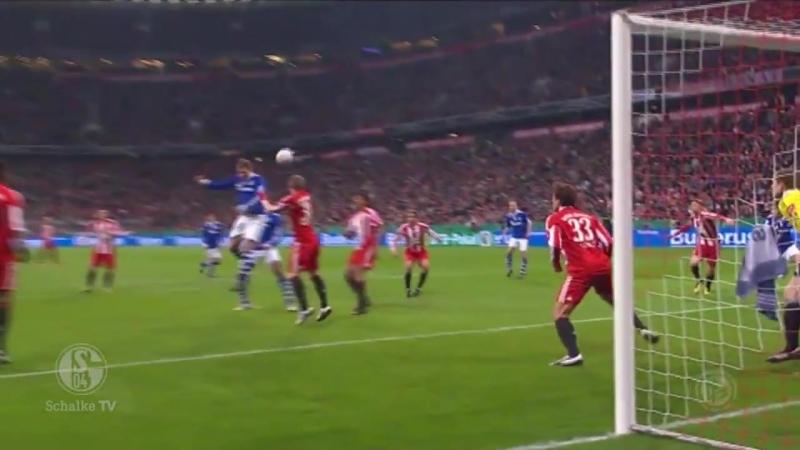 Гол Рауля в ворота «Баварии» в Кубке Германии 2010/11