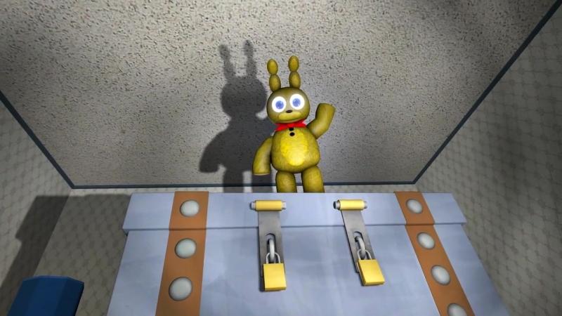 Plushtrap vs Nightmare Freddy Bonnie Chica Foxy Fredbear - FNAF SFM-1