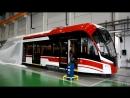 Невский завод электротранспорта представил новый трамвай 71-911ЕМ Львёнок