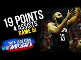 James Harden Full Highlights 2018 WCF Game 5 Warriors vs Houston Rockets - 19 Pts | FreeDawkins