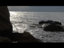 закат в волнах