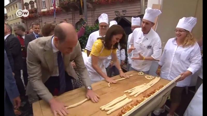 Немцы научили принца Уильма и герцогиню Кейт печь брецели