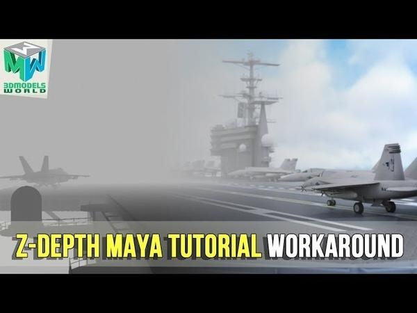 How To Render Zdepth Pass In Maya 2018 Tutorial - Camera Depth Pass Workaround