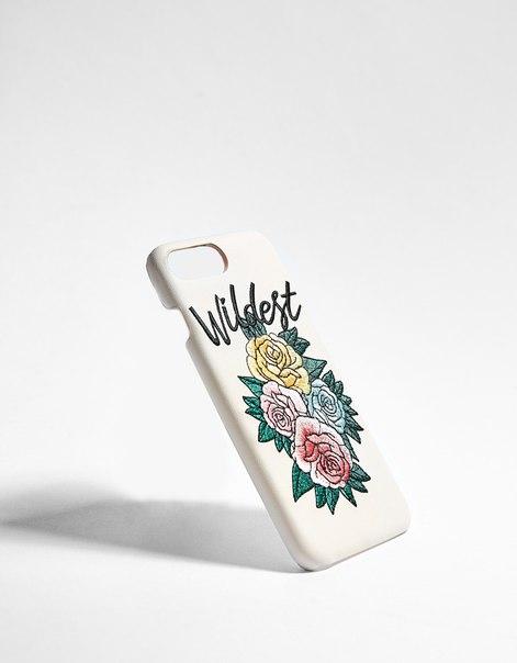 Чехол с цветочной вышивкой для iPhone 6plus/7plus/8plus