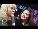 Даша Азиатцева и Татьяна Парадная за кулисами шоу