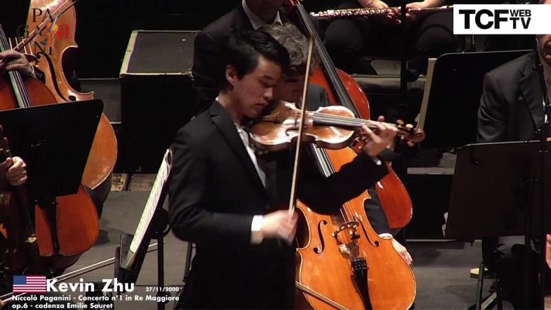 55-й Конкурс скрипачей имени Паганини. Финал: Kevin Zhu - ''Concerto n.1 di Paganini'' (Генуя, 2018)