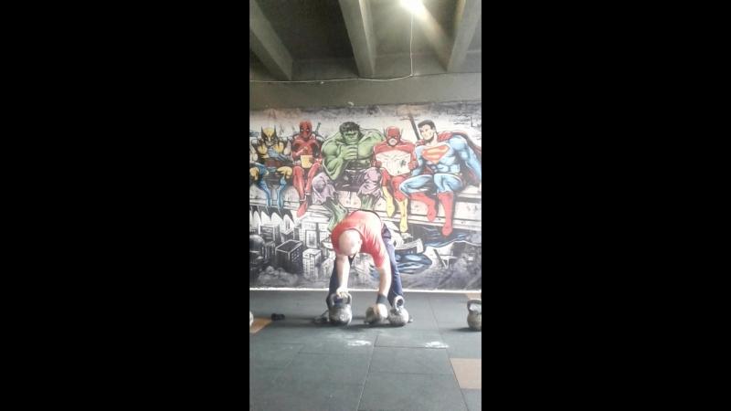 Рывок Трёх Гирь 24kg16kg16kg Одной Рукой! Долгожданный вес!