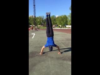 10 handstand push ups 😊