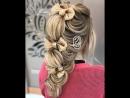 Восхитительный вариант прически на длинные волосы