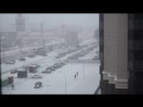 В Воронеже наконец-то пошел снег! 17.01.2018