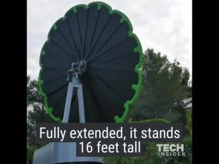 Умная солнечная панель в форме подсолнуха выдаёт на 40% больше энергии чем обычная солнечная панель. Мы дрейфуем в будущее в кот