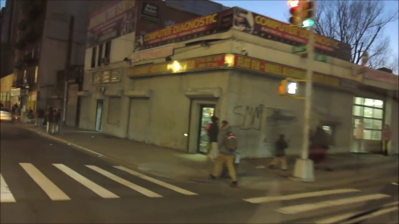 American urban areas, city streets, abandoned houses and buildings: Bronx New York