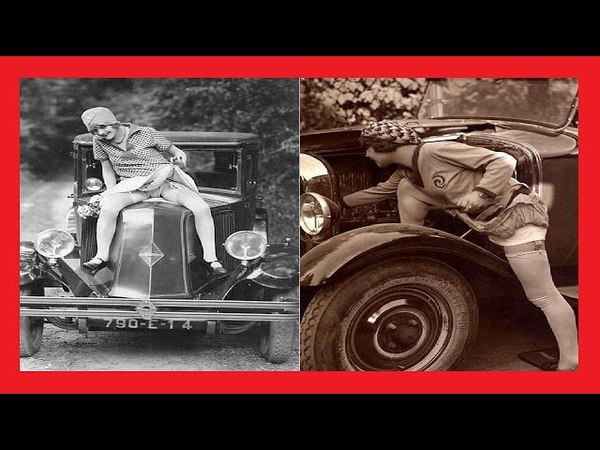 22 FUNNY VINTAGE PHOTOS OF FLAPPERS POSING WITH THEIR CLASSIC CARS IN THE 1920S
