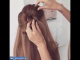 Да вот как это делается. Идеальный бант из волос 📌