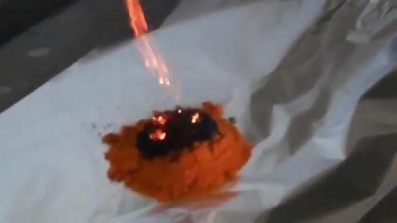 Как горит приправа из Доширака