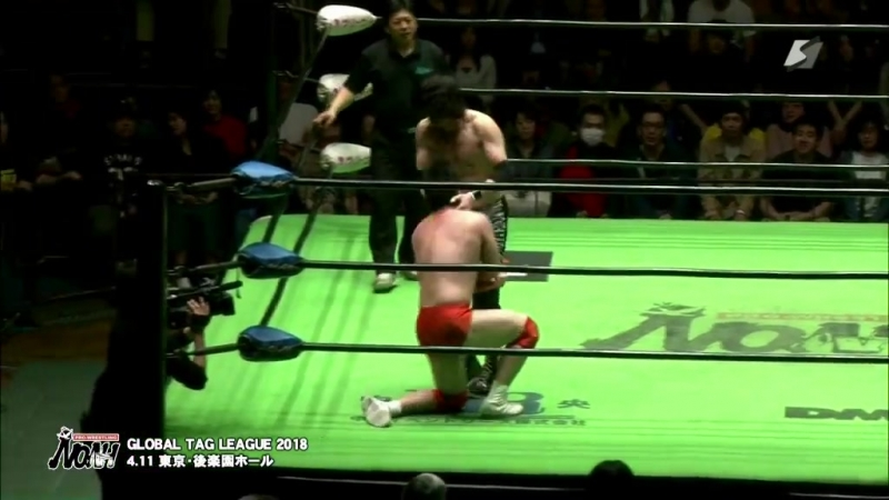 Junta Miyawaki vs. Yoshinari Ogawa (NOAH - Global Tag League 2018 - Day 10)