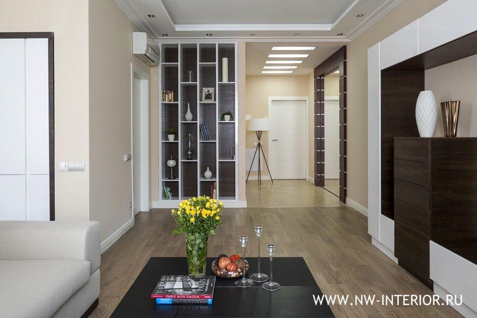 Интерьер квартиры без точного метража в Москве.