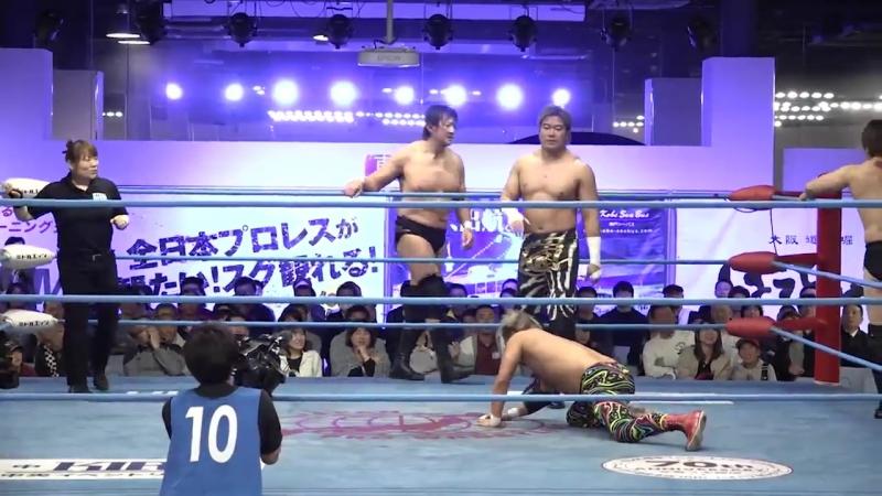 Atsushi Aoki, Rey Paloma, Takeshi Okada vs. Takao Omori, KAI, Atsushi Maruyama (AJPW - Champion Carnival 2018 - Day 6)