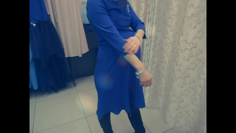 Платье Лукреция для беременных синее