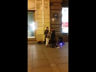 Город,которого нет ,Спб, Music band. #СПБ #невский #городкоторогонет #санктпетербург #невскийпроспект #саксофон